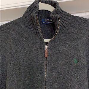 POLO Ralph Lauren Gray Zip Up Sweater